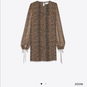 YSL leopard shift dress